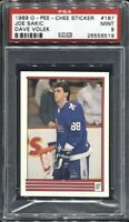 Joe Sakic Dave Volek 1989 O-Pee-Chee Sticker Hockey # 187 Rookie RC PSA 9 Mint