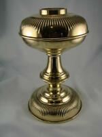 STUNNING ANTIQUE SOLID BRASS EMBOSSED MATCHING OIL LAMP BASE & FONT, SCREW FIT