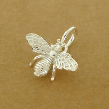 Solid 925 Sterling Silver 3D Bumble Bee Insect Necklace Bracelet Charm Pendant A