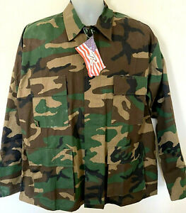 Rothco Military BDU Shirt Tactical Uniform Army Coat Camouflage Fatigue Jacket L