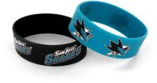 SAN JOSE SHARKS - SILICONE BRACELETS - 2 PACK - BRAND NEW - NHL-BC-207-21