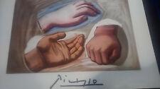 "Pablo Picasso Etude de Main Hand Lithograph 28"" x 22"""