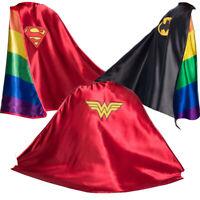 DC Comics Batman, Superman & Wonder Pride Capes LGBTQ+ PLUR Novelty