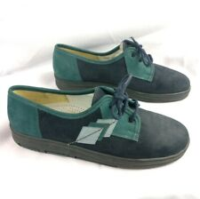 WALDLAUFER Womens Sz US 8 Blue & Green Leather Air Cushion Walking Shoes WORN 1x