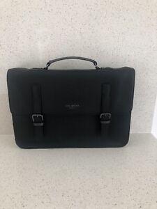 Ted Baker Laptop Bag Black Saffiano