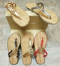MICHAEL KORS Cork Sandals MK Logo charm Jelly PVC New add box for a great GIFT!