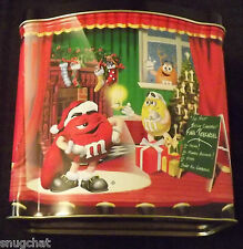 1998 Limited Edition Tin Canister M&M's Brand Night Before Christmas Theater
