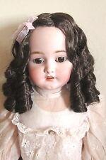 perruque boucles courtes Jumeau®tête35/37cm-poupée ancienne-doll Wig head sz14.5
