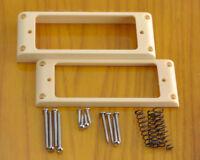 Mini Humbucker Pickup Rings & Hardware - Cream