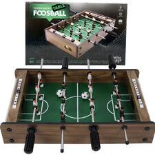 MINI WOODEN TABLE TOP FOOSBALL GAME SET SOCCER ARCADE FOOTBALL KIDS FAMILY 6+