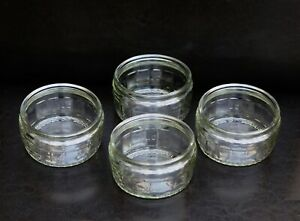 GU GLASS 4 x RAMEKINS DIPPING DISHES DESSERT POTS IN EXCELLENT CONDITION