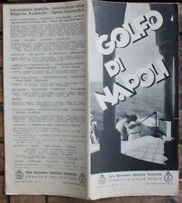 28507 Reise Prospekt Golfo di Napoli  mit großer Landkarte 1937 Italy