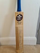 Full Surrey squad signed cricket bat