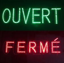 Enseigne lumineuse Panneau à LED OUVERT FERMÉ 60x30x5cm