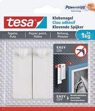 Tesa Powerstrips Klebenagel 1,0 kg 77773-00, 2 Stück, Wiederverwendbar