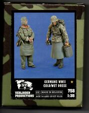 VERLINDEN 758 - GERMAN WWII COLD/WET DRESS (2 Figures) - 1/35 RESIN KIT