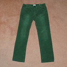 NWT Gant Rugger THE CORDSTER Forest Kelly Green Flat Front Corduroy Pants 30 31