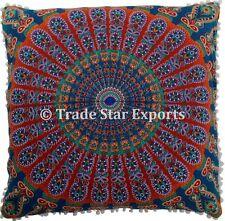 """26X26"""" Large Mandala Euro Sham Cushion Cover 2 Pcs Bohemian Square Pillow Cases"""