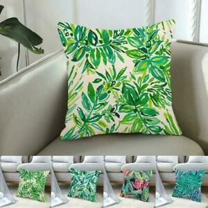 Home Pillowcase Couch Cushion Cover 45*45cm Linen Watercolor Version C2O5
