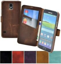 HTC One M9 Funda Book Style Cuero Natural de Móvil Carcasa Plegable Estuche