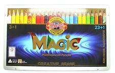 KOH-I-NOOR (3408) Set of 24 Magic Multicoloured Jumbo Pencils , New