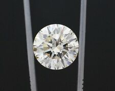 10.10 ct EGL USA hearts and arrows L VS2 eye clean round diamond solitaire ring