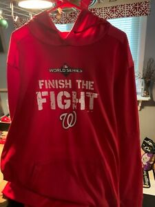 "Washington Nationals ""Finish The Fight"" 2019 World Series Hoodie"