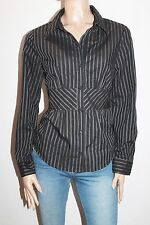 Hot Options Brand Black Grey Striped Long Sleeve Shirt Top Size 16-XL BNWT #SA41