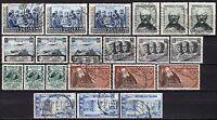 #1106 - Repubblica - Lotto di 21 francobolli, 1952 - Usati