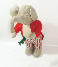 Alter Stoff Elefant Stofftier Glasaugen Vintage Deko Spielzeug !