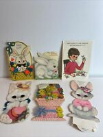 Vintage Easter Greeting Cards 6 Unused & Used ephemera