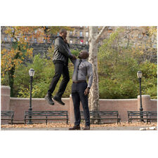 Mike Colter as Luke Cage holding up enemy by the neck 8 x 10 Inch Photo