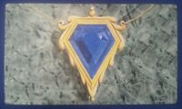 MOX SAPPHIRE Play Mat MTG SIGNED by Dan Frazier OFFICIAL WotC Wizards Magic