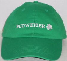 Budweiser Cap The King of Beers Green Irish Shamrock Embroidered Touch Fastener