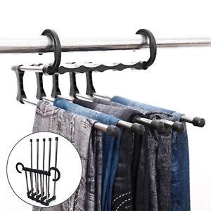 5In1/Adjustable Closet Hook Tie Belt Scarf Organizer Trousers Pants Rack Hanger