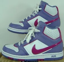New Womens 11 NIKE Air Prestige 3 High White Purple Shoes $80 407363-165