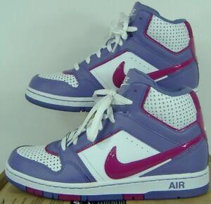 New Womens 11 NIKE Air Prestige 3 High White Purple Shoes $80 407363-165