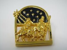 Vintage Collectible Pin: Pregnant Mary Joseph Donkey Ride Religious Nice Quality