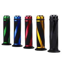 Universal Lenkergriffe Lenker Griffe Aluminium & Gummi für Motorrad 22mm Roller