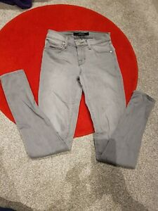 """£265 J Brand """"Honore"""" Super Skinny Light Grey Stone washed Jeans, W23, Uk 4 Or 6"""