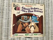 Walt Disney's Johnny Fedora and Alice Blue Bonnet 1970 record and book
