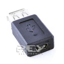 Adaptador USB Hembra a MINI USB Hembra Calidad ¡ENVÍO DESDE ESPAÑA! v91
