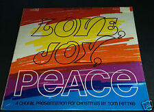 #2 LOVE JOY PEACE Christmas Choral TOM FETTKE Vintage LP Vinyl NEW Sealed Record