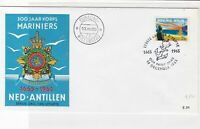 Netherlands Antillen 1965 300 years Marine Corps Crest stamps cover ref 21687