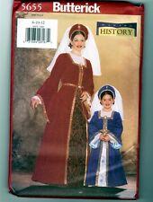 Butterick 5655 Renaissance Costume Dress Pattern Uncut Ladies Size 8 10 12