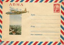 1963 Soviet Russian letter cover Plane AN-10 in flight
