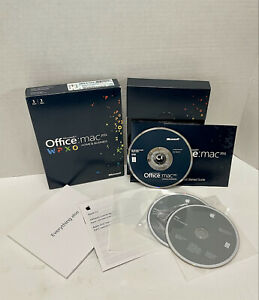 MS Microsoft Office MAC 2011 Home and Business for 1 User Original Box & Key