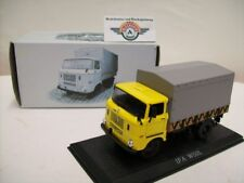 IFA w50l Flatbed/Awning, 1965, Yellow, Atlas 1:43, OVP