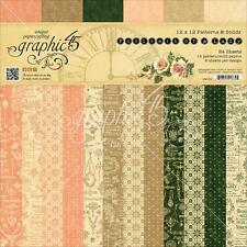 """Graphic 45 PORTRAIT OF A LADY 12x12"""" Scrapbooking Paper Pad  Patterns & Solids"""