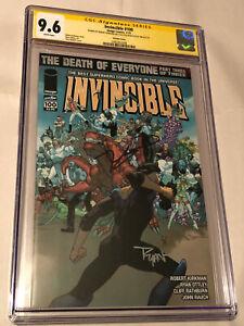 Invincible #100 Variant Comic CGC 9.6 SS Signed x2 Robert Kirkman & Ryan Ottley